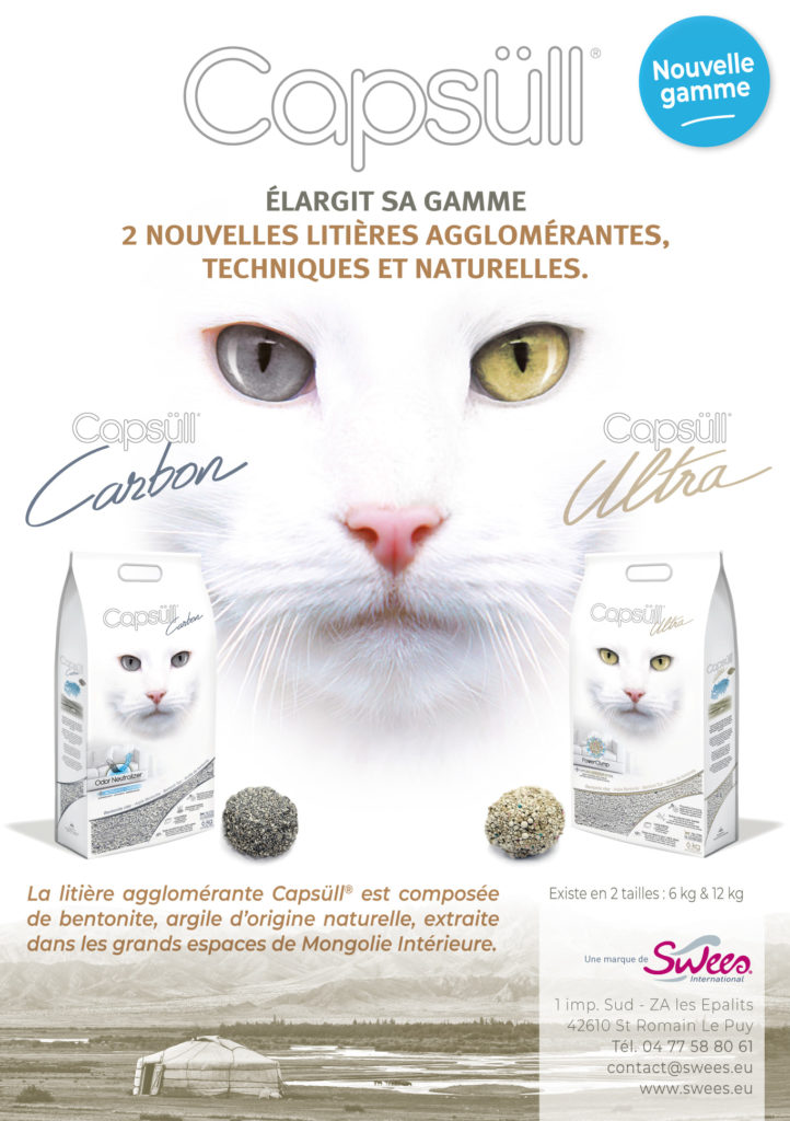 Gamme litière pour chat agglomérante Capsull