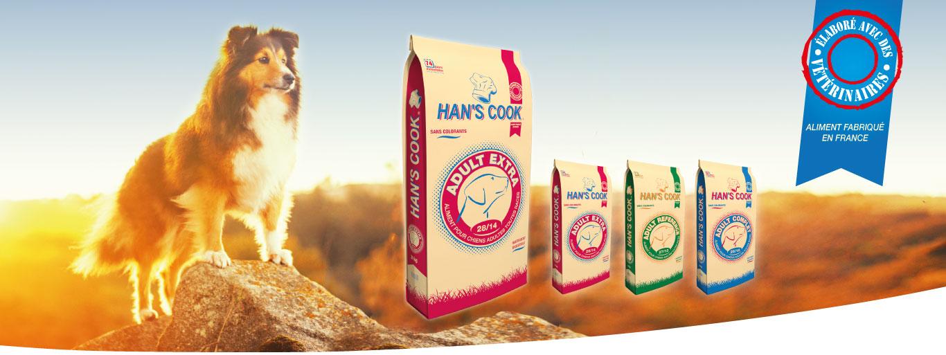 Gamme croquettes pour Chien Han's Cook